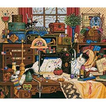 """Dimensions Gold Collection Maggie The Messmaker Counted Cross Stitch Ki-14/""""X12/"""""""