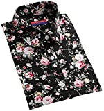 Dioufond 森ガール風 カントリー調 牡丹柄 長袖 圓衿 レディースシャツ