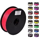 Pxmalion ABS 3Dプリンター用フィラメント素材 マテリアルABS樹脂材料 1.75mm径 正味量1KG(2.2LB) 精確度+/- 0.03mm だいぶの3Dプリンターと3Dプリントペンが適用 (赤/レッド)
