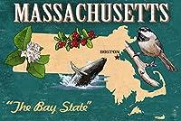 マサチューセッツ州–状態アイコン 24 x 36 Giclee Print LANT-50014-24x36