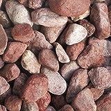 天然石 玉石砂利 3-4cm 20kg ボルドーレッド (ガーデニングに最適 赤色砂利)