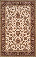 Momeni Rugs PERGAPG-07COO2030 Persian Garden Collection 100% New Zealand Wool Traditional Area Rug 2' x 3' Cocoa [並行輸入品]