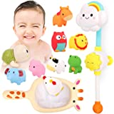 ADULi お風呂おもちゃ 水遊び玩具 シャワーおもちゃ 子供 赤ちゃんおもちゃ 知育玩具 12点セット 噴水 音出す動…