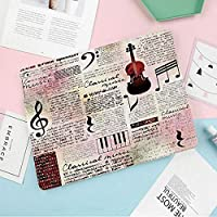 IPad mini 5 ケース (2019モデル) 軽量 薄型 二つ折スタンド オートスリープ機能付き ハニカム放熱 全面保護 2019発売のIPad Mini5(第五世代) に対応 スマートカバー クラシック音楽のテーマ楽器ピアノバイオリンノート記号装飾