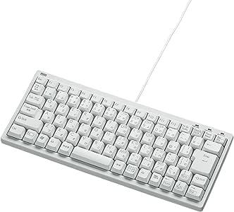 サンワサプライ コンパクトUSBキーボード メンブレン テンキー無し ホワイト SKB-KG3WN