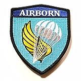 自衛隊グッズ ワッペン 陸上自衛隊 第1空挺団 部隊章 ハイビジ ベルクロ付き