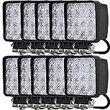 LEDワークライト 48W LED作業灯 広角タイプ 角型 12V/24V対応 現場作業、集魚灯、看板灯、投光器 10個セット TOPAIM ZONTEN