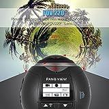 SilverSea™ 3D・VR 4k ビデオカメラ 360度 パノラマ カメラ フルHD撮影 アクションカメラ Wifi 2448P 30FPS 30メートル防水 APP 運転記録 自転車、スキー、サーフ、ダイビングといったアウトドアスポーツや空撮に適用 (ブラック)
