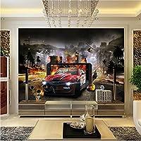 Yosot 3Dの壁紙カスタム写真壁画リビングルームキッズ・一括自動車の 3Dペイントソファテレビ背景非 D の壁 3 の不織布壁紙-250Cmx175Cm
