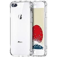 【ONES】 iPhone 8plus 7plus ケース 高透明 米軍MIL規格〔衝撃吸収、レンズ保護、滑り止め、軽い、フィット感〕『エアクッション技術、半密閉音室、Qi充電』Airシリーズ クリア