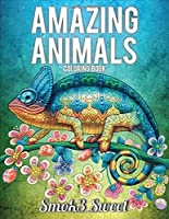 Amazing Animals Coloring Book: Adult Coloring Book Design Pattern for Anger Reducing, Mandala Animal Coloring Book