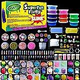 HSETIY slime kitフリースライムおもちゃ、ふわふわスライム香りストレスリリーフバブルガムフレグランス