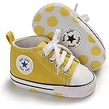 [Tamiava] キャンバスベビーシューズ 赤ちゃん靴新生児靴 フォーマルベビーシューズ ファーストシューズ キャンバ…