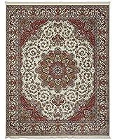 ラグのTruck–Persian Treasures Shahクリームエリアラグ 4' x 6'