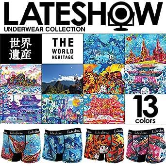 [富岡製糸場と絹産業遺産群][L(84~94cm)]LATESHOW 世界遺産 ボクサーパンツ レイトショー メンズ ボクサー