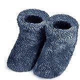 スリッパ 北欧 ル ームブーツ 暖かい もこもこ 可愛い 靴 おしゃれ 防寒 ボアブーツ 静音 シューズ 洗濯可 室内履き用 男女兼用 (ブルー, XLサイズ 26.5-27.5cm)
