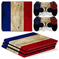 Sony PS4 Playstation 4 Pro Skin Design Foils Faceplate Set - France Design