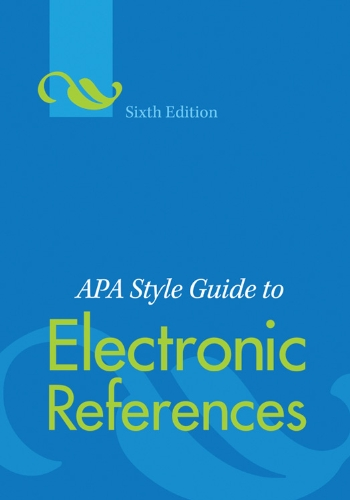 amazon apa style guide to electronic references sixth edition