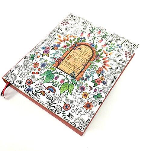 Angelicate 毎日が楽しくなる イラスト付き 日記帳 フラワー モチーフ A5 クラフトケース入り しおり付 幸せの扉