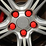 ryvox ( TM )自動車シリコンホイールねじ保護キャップforメルセデス・ベンツa200a180a260b180b200a200a250CLA GLA AMG レッド Rv-32588559382-Pad- cap-red