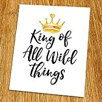 King of all wild things Print (Unframed) Playroom Wall Art Nursery Wall Decor Kid Room Decor Modern Colorful 8x10 TB-108 [並行輸入品]