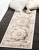 Unique Loom Istanbul Collection Dark Beige 3 x 10 Runner Area Rug (3' x 9' 10) [並行輸入品]
