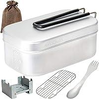 (キャンパー監修) メスティン 5点セット キャンプ 用品 アウトドア ソロキャンプ アルミ製 飯ごう はんごう 2合炊…