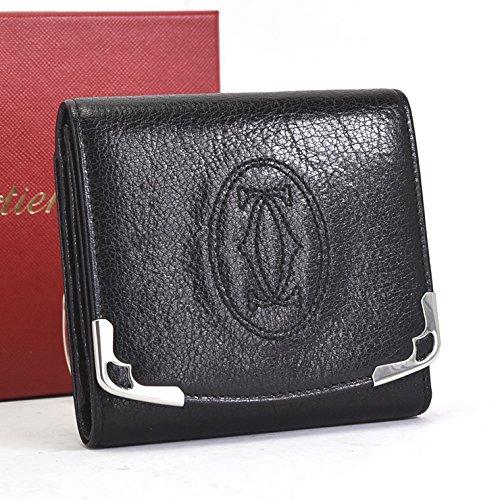 Cartier(カルティエ) マルチェロ 三つ折り財布 L3000914 ブラック [中古]