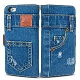「UK Trident」本格デニム iPhone6 PLUS / iPhone6s PLUS 兼用 手帳型アイフォンケース