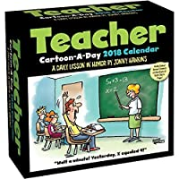Teacher Cartoon-a-Day 2018 Day-to-Day Daily Desk Boxed Calendar [並行輸入品]