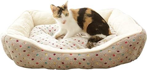 アイリスプラザ ペット用ベッド あったか角型ペットベッド M YF89024 ブラウン
