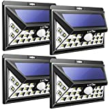 Litom 24LEDソーラーライト メッキLEDパネル 人感センサー搭載 表玄関/パーク/ポスト/ガーデン/縁側/ガレージ/パルコニー/庭などに屋外照明(4本セット) (24LED 改良版)