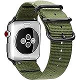 MaKer編まれたナイロンiWatchバンドNATOループバックル付きに対応しますApple Watch Series…