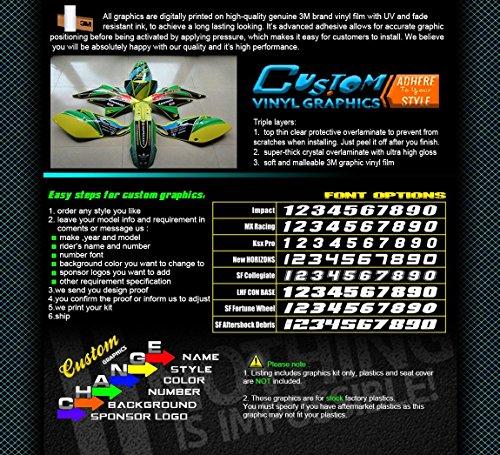 KUNGFU GRAPHICSカンフー グラフィックス KAWASAKIカワサキ2003 2004 2005 2006 2007 2008 KX125 KX250 純正のデカールセット 各車種専用カット加工 モトバイク オートバイ専用