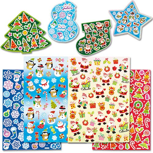 クリスマス シール バリューパック(280枚入り) 子どもたちのクリスマスの工作や手作りカードに