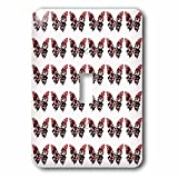 3drose LLC lsp _ 101258_ 1Deep Pink Butterflies All in a rowパターン単一切り替えスイッチ
