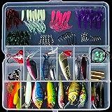 釣具 ルアー 100個セット バスフィッシング 釣具セット ポッパー ルアー用ワームユニバーサルキット シーバスフィッシングやチニング・スポーニングにも最適 (種類A)