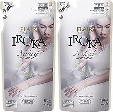 【まとめ買い】フレアフレグランス 柔軟剤 IROKA(イロカ) NakedSensual(ネイキッド センシュアル) 詰替用 480ml×2個