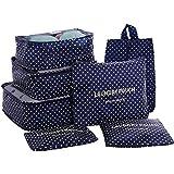 HiDay7ピース旅行収納セット - トラベルキューブ3個 +ポーチ 3 個+靴バッグ 1 個, あなたの旅行をサポートします!