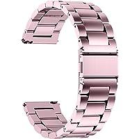 時計バンド ベルト16mm ステンレス、Fullmosa スマートウォッチバンド ベルト 腕時計バンド 16mm 18m…