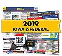 2018 Iowa State & Federal Labor Law Posters for Workplace Compliance [並行輸入品]