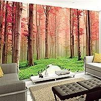 Lcymt 3Dステレオ壁画壁紙森自然風景フレスコリビングルームベッドルーム壁画インテリア壁絵画A-120X100Cm