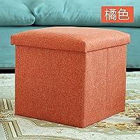 STJK $ bmjw保存Folding Stoolsファブリックとして使用できるシート小さなソファ椅子高パッドフットレスト寝室に座って子供の靴 6930758309046