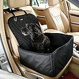 HBLIFE 最高品質 ペットドライブボックス ドライブシート 犬猫 2WAY 車用ペットシート 防水 滑り止め 助手席 後部席 カーシートカバー 中小型犬用 ペット カー用品 ドライブ お出かけ用品 汚れに強い 水洗い可能 (助手席)