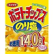 湖池屋   お徳用 ポテトチップス のり塩  140g×10袋