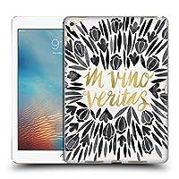 オフィシャル Cat Coquillette In Wine There Is Truth ブラック クオート・タイポグラフィ1 ハードバックケース iPad Pro 9.7 (2016)