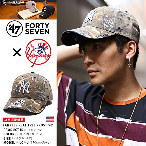 【RFRO17CNV】 フォーティーセブンブランド 47BRAND ローキャップ ニューヨーク ヤンキース 帽子 CAP MLB メジャーリーグ 正規品 (01)迷彩 Fサイズ