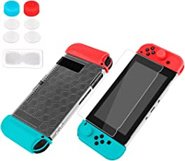 Matoy Nintendo Switch カバー 保護フィルム セット スイッチ本体PCハードケース Joy-Con TPUソフトケース 滑り止め設計 着脱簡単 ドック対応可 高透明強化保護シール 耐衝撃 硬度9H コントローラー用
