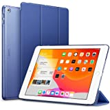 ESR iPad 10.2 ケース 第7世代 2019モデル クリア 薄型 軽量 傷防止 オートスリープ/ウェイク 三つ折りスタンド スマートケース Apple iPad 10.2インチ 第7世代 2019用ハードカバー(ネイビーブルー)