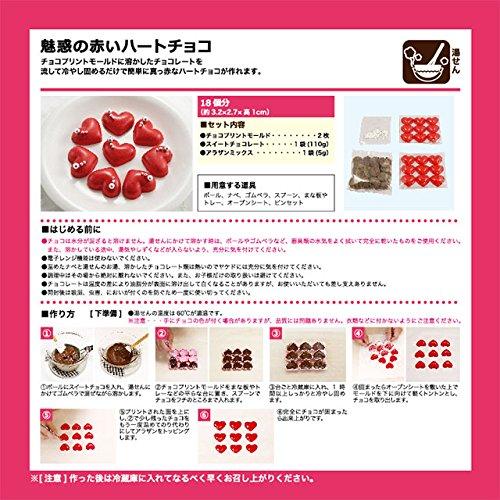 【ラッピングボックス付】魅惑の赤いハートチョコ【お菓子材料キット】【2017バレンタイン】【夏期クール】
